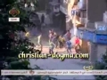 Muslims are Shooting Christian Copts with stones in the Street-Ain Shams,Cairo-Egypt